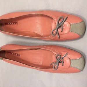 Pink, and Grey, Flat Prada Shoes
